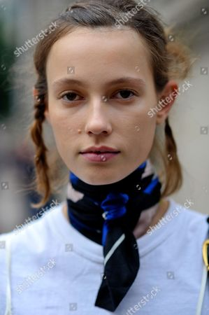 Editorial photo of Street Style, Spring Summer 2017, London Fashion Week, UK - 18 Sep 2016