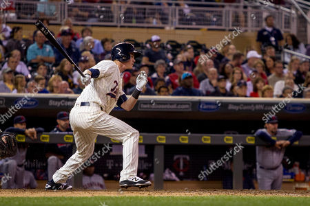 James Beresford Minnesota Twins James Beresford watches his first major league hit go against the Cleveland Indians in the seventh inning of a baseball game, in Minneapolis. The Twins won 2-1 in 12 innings