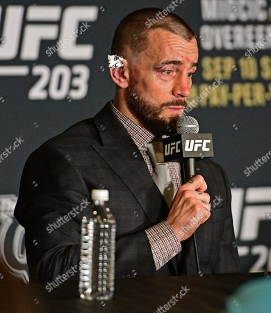 CM Punk CM Punk speaks during the post fight press conference after his submission loss to Mickey Gall in a middleweight bout at UFC 203, in Cleveland