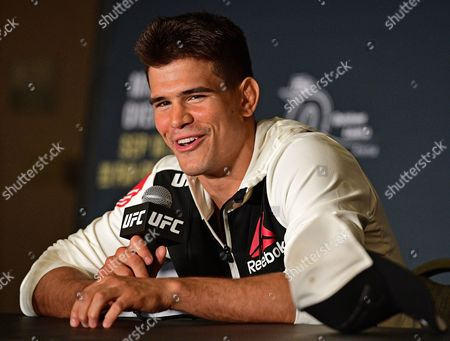 Mickey Gall Mickey Gall speaks during the post fight press conference after his submission win over CM Punk in a middleweight bout at UFC 203, in Cleveland