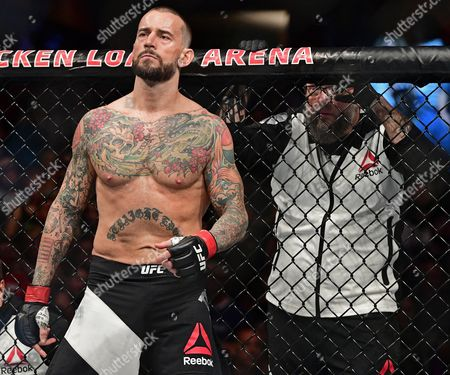 CM Punk CM Punk stands in his corner before a welterweight bout at UFC 203, in Cleveland. Mickey Gall won via submission