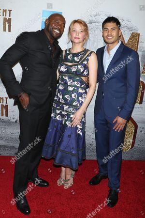 Antoine Fuqua, director, Haley Bennett and Martin Sensmeier