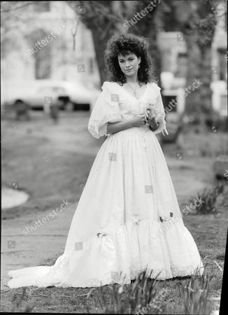 Actress Sabina Franklyn Daughter Of Actor William Franklyn Wearing A Wedding Dress. Box 707 303081644 A.jpg.