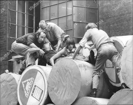 Albert Reed Is Freed By Workmates And A Nurse After He Was Trapped Under A Newspaper Reel On The Lorry That Was Being Unloaded. Box 707 303081648 A.jpg.