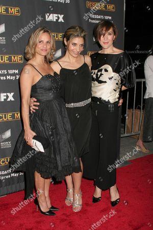 Amy Sedaris, Callie Thorne and Nadia Dajani