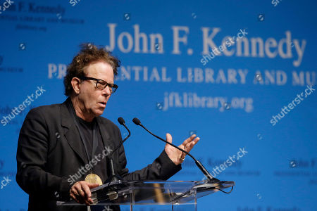 Tom Waits Musician Tom Waits addresses an audience after he and his wife musician Kathleen Brennan were presented with the PEN New England's Song Lyrics of Literary Excellence Award during ceremonies at the John F. Kennedy Library and Museum, in Boston. Waits, his wife, Kathleen Brennan, and folk singer John Prine were presented with the award during ceremonies Monday