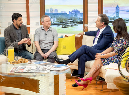 Alexis Conran and Patrick Cornwell with Piers Morgan and Susanna Reid