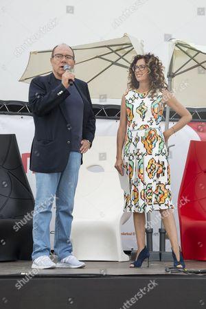 Carlo Verdone and Teresa Mannino