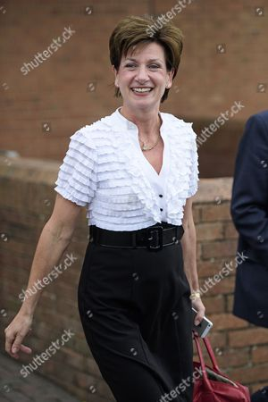 Party leader Diane James leaves after delivering her closing speech at Day 2 of the 2016 UKIP Autumn Conference