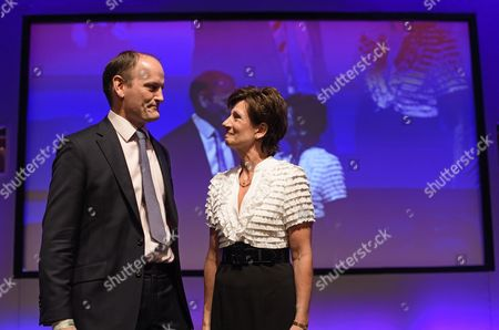 UKIP party leader Diane James and UKIP MP Douglas Carswell on stage at Day 2 of the 2016 UKIP Autumn Conference