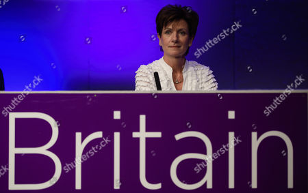 UKIP party leader Diane James on stage at Day 2 of the 2016 UKIP Autumn Conference