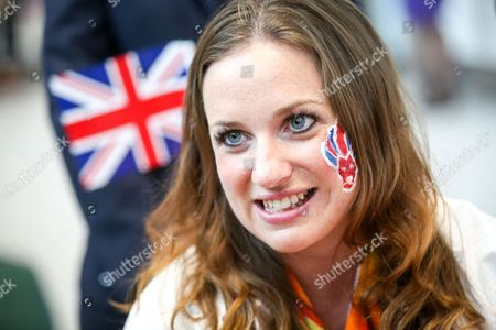 Team GB Paralympian Natasha Baker arrives at terminal 5 of London Heathrow Airport after flying on British Airways flight BA2016. Baker won three golds in equestrian events. Team GB finished second in the Paralympics medals table with 147 medals beating their total of 120 at London 2012.