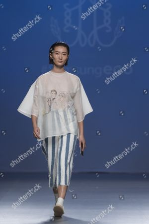 Editorial picture of Ferrandiz show, Spring Summer 2017, Madrid Fashion Week, Spain - 20 Sep 2016