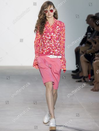 Stock Picture of Adrienne Juliger on the catwalk