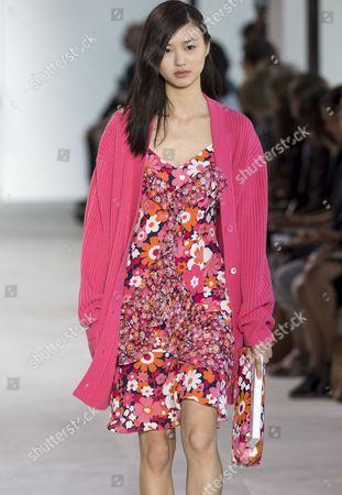 Estelle Chen on the catwalk
