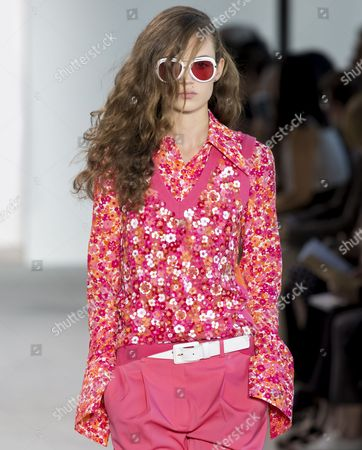 Stock Photo of Adrienne Juliger on the catwalk