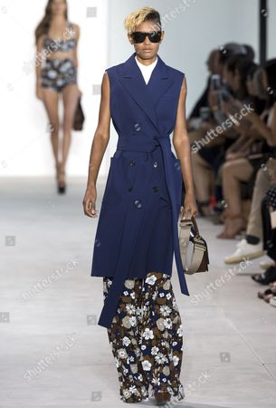 Stock Image of Ysaunny Brito on the catwalk