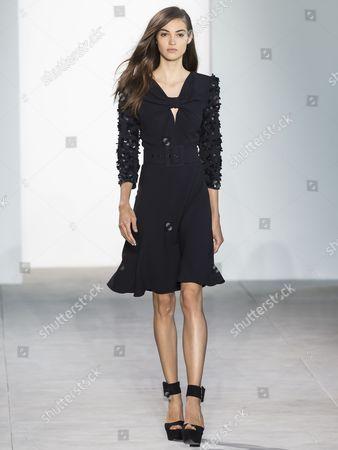 Camille Hurel on the catwalk