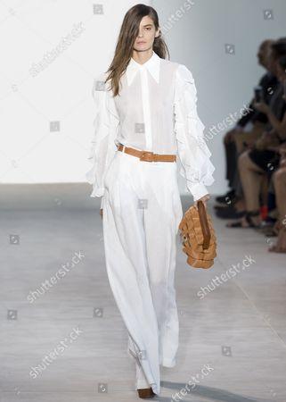 Stock Photo of Dasha Denisenko on the catwalk