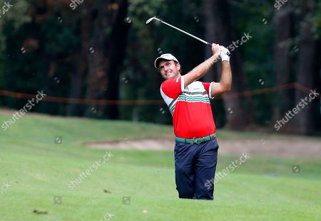Italy's Edoardo Molinari hits the ball during the 73th Italy Open Golf Championship in Monza, Italy
