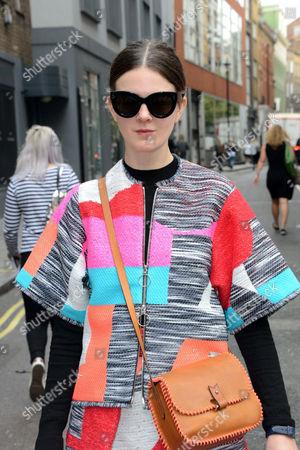 Editorial photo of Antonio Berardi show, Arrivals, Spring Summer 2017, London Fashion Week, UK - 19 Sep 2016