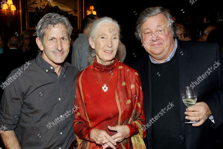 Stock Picture of Buddy Squires, Jane Goodall, Kirk Simon