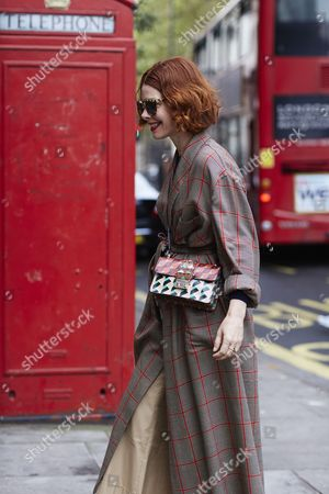 Editorial picture of Street Style, Spring Summer 2017, London Fashion Week, UK - 19 Sep 2016