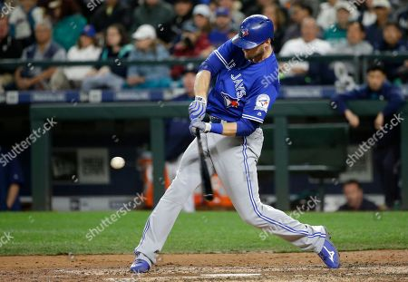 Michael Saunders Toronto Blue Jays' Michael Saunders hits a two-run home run in the fourth inning of a baseball game, in Seattle. Blue Jays' Troy Tulowitzki scored on the play