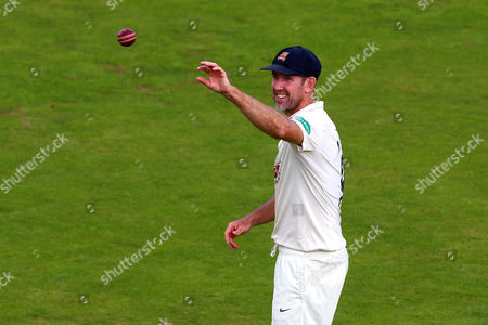David Masters of Essex catches the ball during Kent CCC vs Essex CCC, Specsavers County Championship Division 2 Cricket at the St Lawrence Ground on 21st September 2016