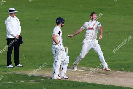 David Masters in bowling action for Essex during Kent CCC vs Essex CCC, Specsavers County Championship Division 2 Cricket at the St Lawrence Ground on 21st September 2016