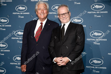 Jean-Loup Dabadie and Cannes film festival general delegate, Thierry Fremaux
