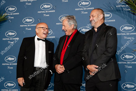 Directors Volker Schlondorff, left, Costa-Gavras, center, and Jean-Pierre Jeunet