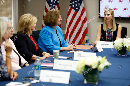 Ivanka Trump Ivanka Trump, right, daughter of Republican presidential candidate Donald Trump, speaks during a meeting with women members of Congress at the Republican National Committee, in Washington. From third from left are, Rep. Marsha Blackburn, R-Tenn., Sen. Deb Fischer, R-Neb. and Trump