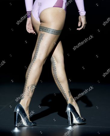 Stock Image of Vinila von Bismark on the catwalk