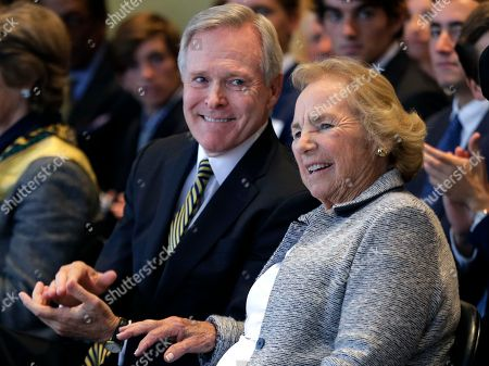 Ray Mabus, Ethel Kennedy Navy Secretary Ray Mabus smiles with Ethel Kennedy, widow of Sen. Robert F. Kennedy, at the naming of the Robert F. Kennedy Navy Ship at the John F. Kennedy Presidential Library, in Boston. The new ship's job will be to restock and refuel other ships already at sea. Ships in this class are being named in honor of civil and human rights heroes
