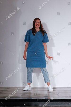Amy Powney on the catwalk