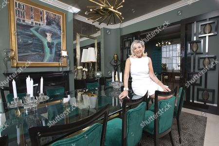Editorial photo of Linda Plant at her Regents Park home, London, UK - 19 Apr 2016