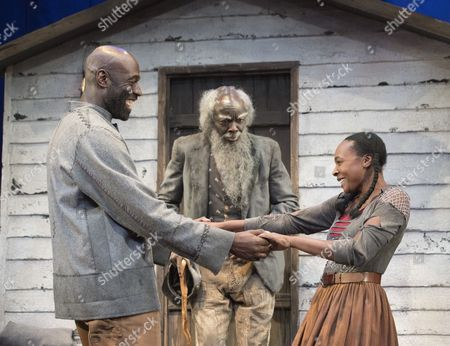 Steve Toussaint as Hero,Leo Wringer as The Oldest Old Man, Nadine Marshall as Penny,