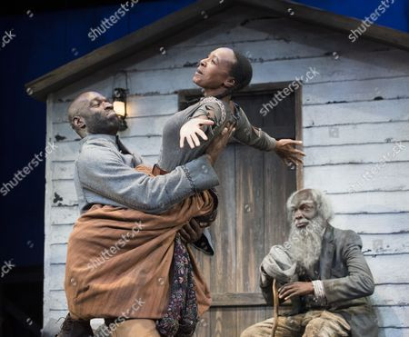 Nadine Marshall as Penny, Steve Toussaint as Hero,Leo Wringer as The Oldest Old Man
