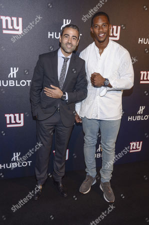 Editorial image of Hublot hosts a 'Luxury Tailgate' with Victor Cruz and The New York Giants, New York, USA - 20 Sep 2016