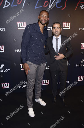 Editorial picture of Hublot hosts a 'Luxury Tailgate' with Victor Cruz and The New York Giants, New York, USA - 20 Sep 2016