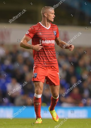 Paul Konchesky of Gillingham during the EFL Cup Third Round match between Tottenham Hotspur and Gillingham played at the White Hart Lane, London on 21st September 2016