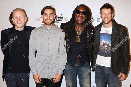 Stock Image of Boyd Tinsley (2nd from left) and Crystal Garden
