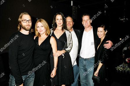 Scott Mosier and wife Monica Hampton, Jennifer Schwalbach Smith, Harvey Weinstein, Jeff Anderson and guest