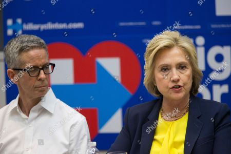 Hillary Clinton, Peter Staley Democratic presidential candidate Hillary Clinton, right, is joined by AIDS activist Peter Staley as she participates in a round table discussion with HIV/AIDS activists, in New York