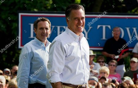 Mitt Romney, Tim Pawlenty Former Minnesota Gov. Tim Pawlenty, left, stands with Republican presidential candidate, former Massachusetts Gov. Mitt Romney during a campaign stop at campaign stop at Cornwall Iron Furnace in Cornwall, Penn. President Barack Obama and his Democratic allies aren't waiting for Romney to reveal his vice presidential choice. They're already trying to scuff up those considered by political insiders to be most likely to join the GOP ticket. The president's campaign started swinging at the potential Republican running mates, including Pawlenty, this week while urging home-state Democrats to chime in about the shortcomings