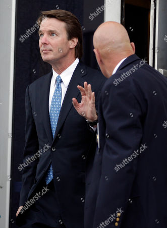 John Edwards Former presidential candidate and Sen. John Edwards, left, leaves a federal courthouse in Greensboro, N.C., . Edwards is accused of conspiring to secretly obtain more than $900,000 from two wealthy supporters to hide his extramarital affair with Rielle Hunter and her pregnancy. He has pleaded not guilty to six charges related to violations of campaign-finance laws