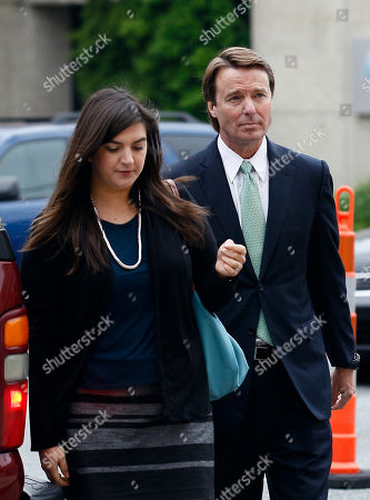 John Edwards, Cate Edwards Former presidential candidate and Sen. John Edwards and his daughter, Cate Edwards, arrive at a federal courthouse in Greensboro, N.C., . Edwards is accused of conspiring to secretly obtain more than $900,000 from two wealthy supporters to hide his extramarital affair with Rielle Hunter, as well as her pregnancy. He has pleaded not guilty to six charges related to violations of campaign finance laws