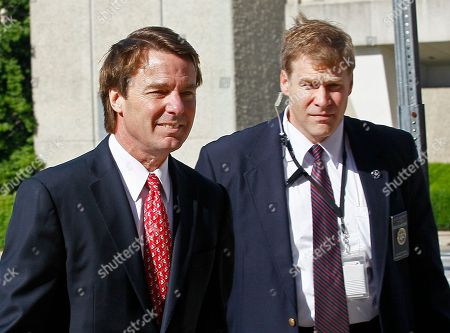 John Edwards Former presidential candidate and Sen. John Edwards, left, arrives at a federal courthouse in Greensboro, N.C., . Edwards is accused of conspiring to secretly obtain more than $900,000 from two wealthy supporters to hide his extramarital affair with Rielle Hunter and her pregnancy. He has pleaded not guilty to six charges related to violations of campaign-finance laws