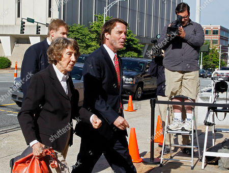 Stock Image of John Edwards, Bobbie Edwards Former presidential candidate and Sen. John Edwards arrives with his mother, Bobbie Edwards, at a federal courthouse in Greensboro, N.C., . Edwards is accused of conspiring to secretly obtain more than $900,000 from two wealthy supporters to hide his extramarital affair with Rielle Hunter and her pregnancy. He has pleaded not guilty to six charges related to violations of campaign-finance laws